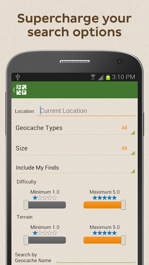 Geocaching - screenshot