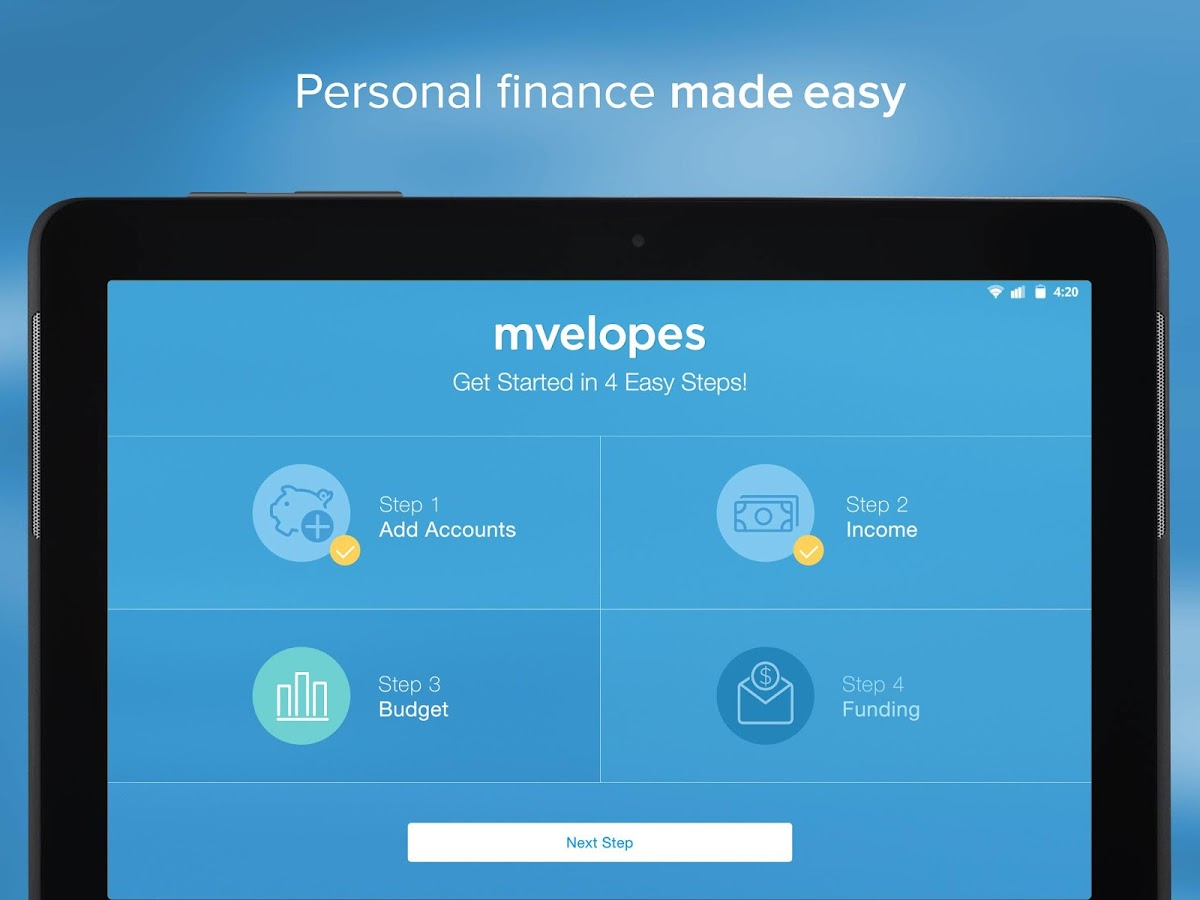 Mvelopes Budget App- screenshot