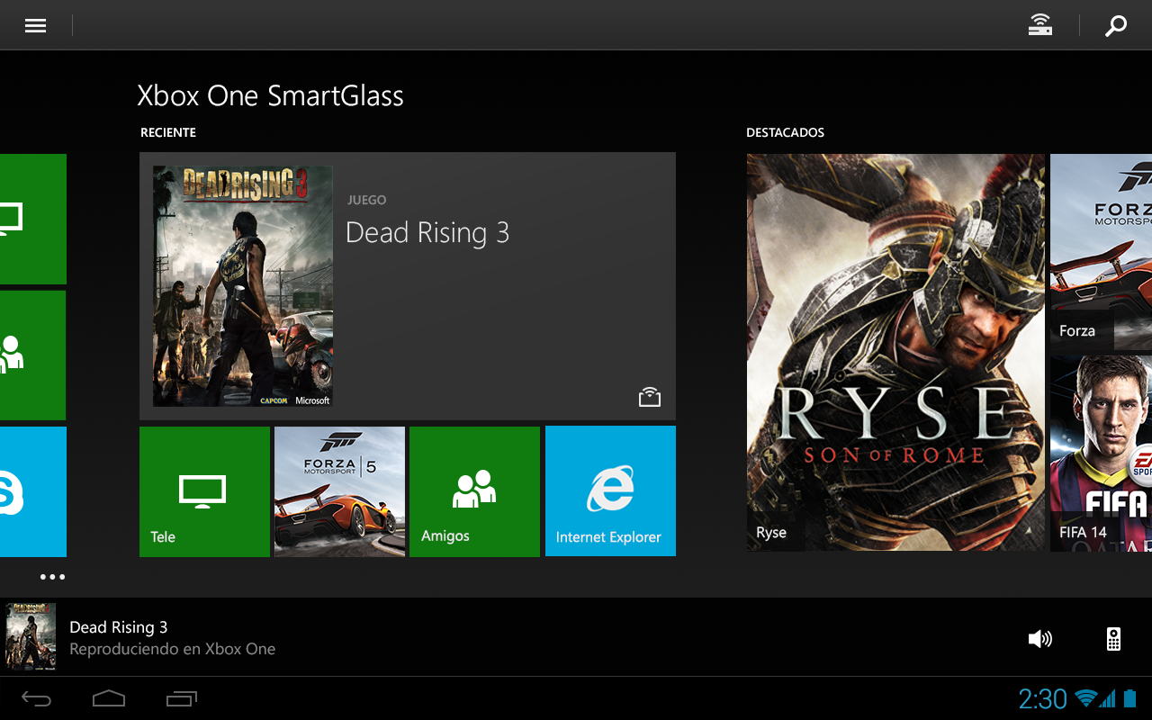 Xbox One SmartGlass - screenshot