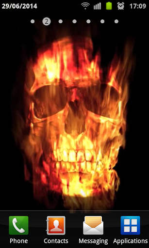 Skull Of Fire Live Wallpaper