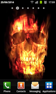 Skull Of Fire Live Wallpaper - screenshot thumbnail