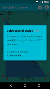 Calculation of angles screenshot