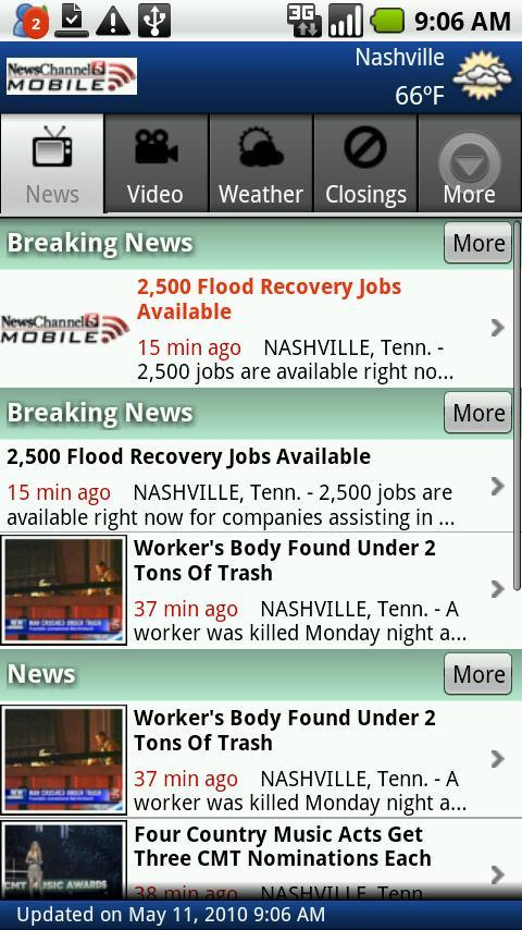 NewsChannel 5 Mobile - screenshot