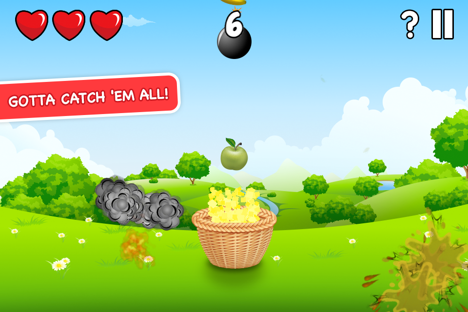 Circus Basket Fruit Catcher - screenshot