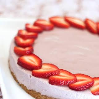 Gluten-Free Vegan Strawberry Cheesecake.
