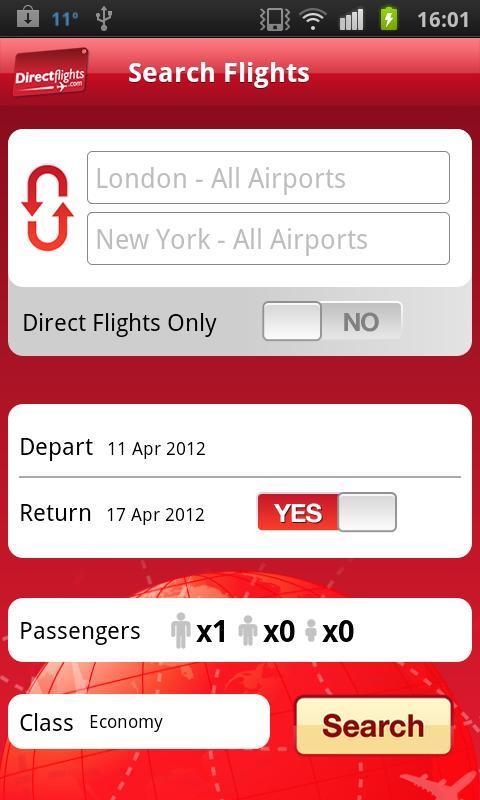 Directflights flights & hotels - screenshot