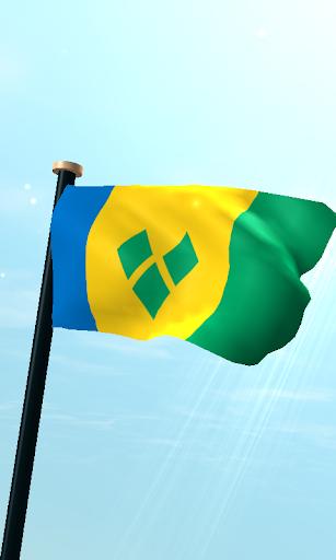 セントビンセントおよびグレナディーン諸島フラグ3Dライブ壁紙