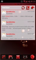 Screenshot of GOWidget Red ICS Light Free