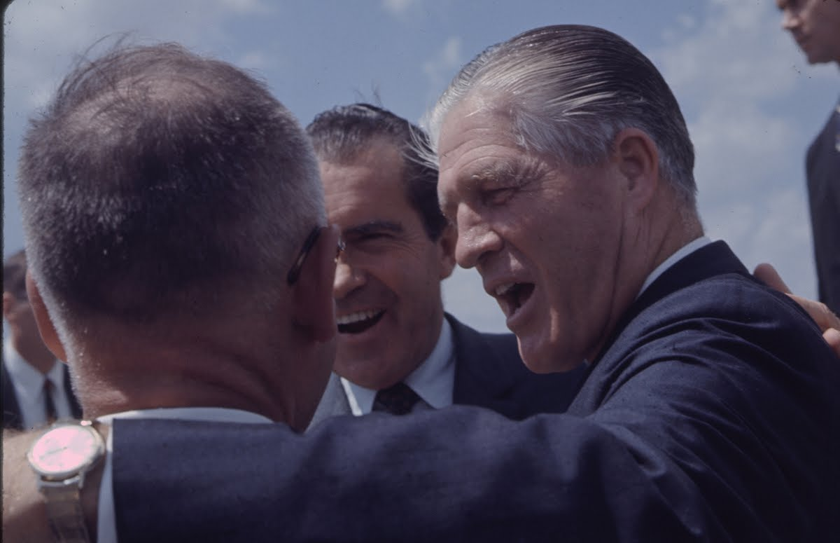 Gop Presidential Nominee- Richard M. Nixon And Vice- President Gov. Spiro Agnew