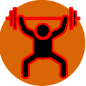 Fitness workout exercices icon
