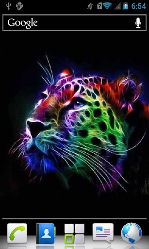 Colorful Neon Leopard Live