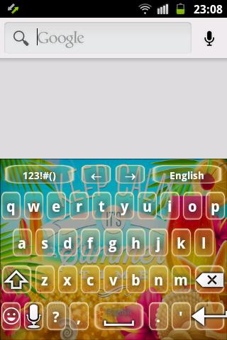 夏季顏色鍵盤