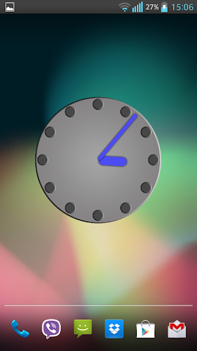 Gray Clock Widget