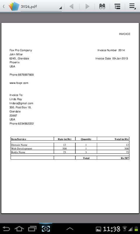 Invoice Generator In Pdf - Android Apps On Google Play