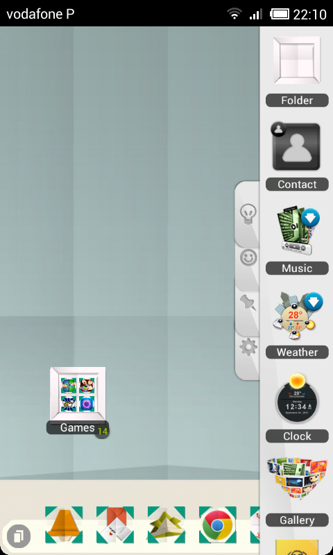 TSF Shell Origami Theme HD- screenshot
