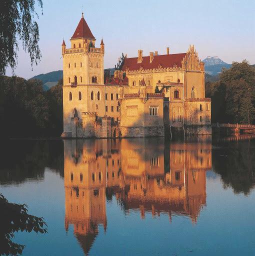 Anif palace is a moated castle near Salzburg, Austria.
