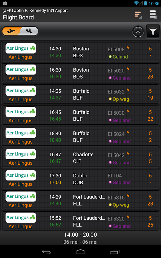 Vluchtstatus Tracking - FlightHero Free: screenshot