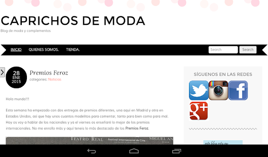 Caprichos de moda- screenshot thumbnail