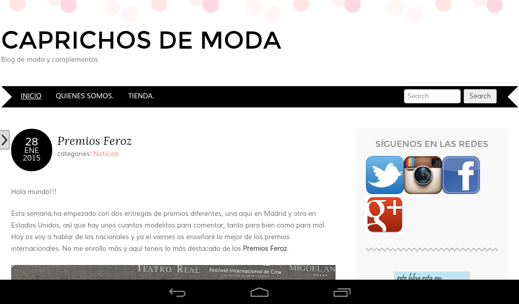 Caprichos de moda- screenshot