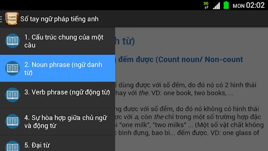 Sổ tay ngữ pháp tiếng anh screenshot