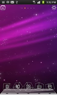 Purple Aurora 3D Live Theme - screenshot thumbnail
