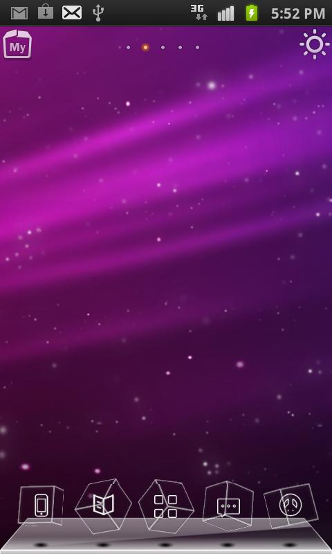 Purple Aurora 3D Live Theme - screenshot