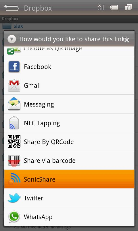 SonicShare- screenshot