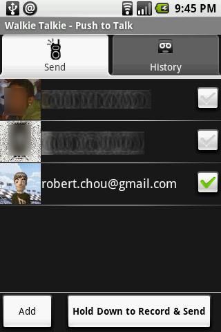 Walkie Talkie PTT Lite- screenshot