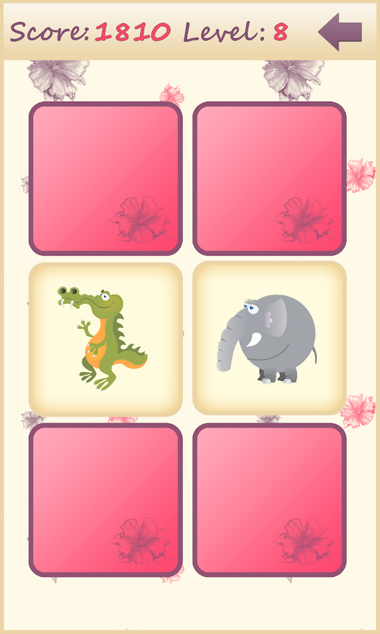 Animals memory game for kids - screenshot