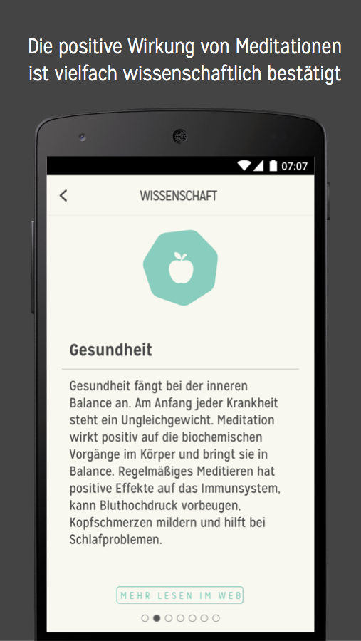 7Mind Meditation & Achtsamkeit – Screenshot