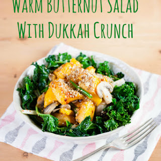 Warm Butternut Squash Salad with Dukkah Crunch.