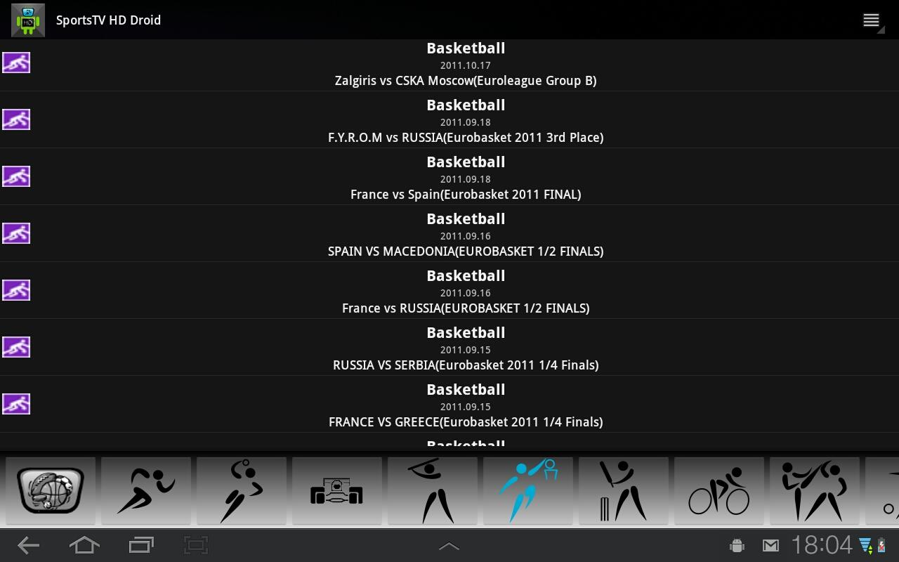 Sports TV HD for Tablets - screenshot