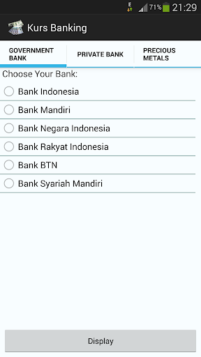 Kurs Indonesia Banking