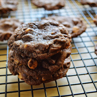 Peanut Butter Double Chocolate Chip Cookies.