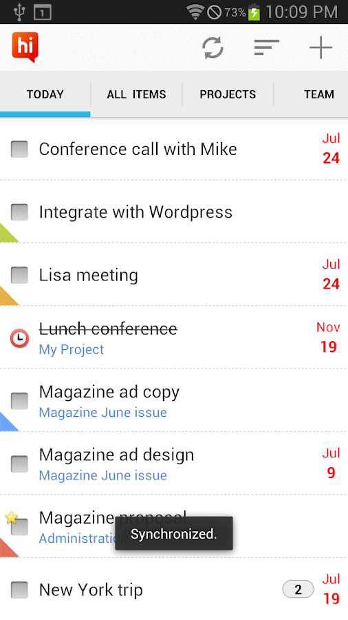 hiTask - Team Task Management - screenshot