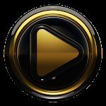Poweramp skin Black Gold 3.10 (Paid)