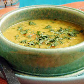 Lentil Dal with Garlic-and-Cumin-Infused Oil.