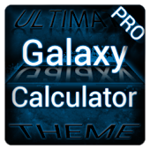 Blue Galaxy Calculator Theme