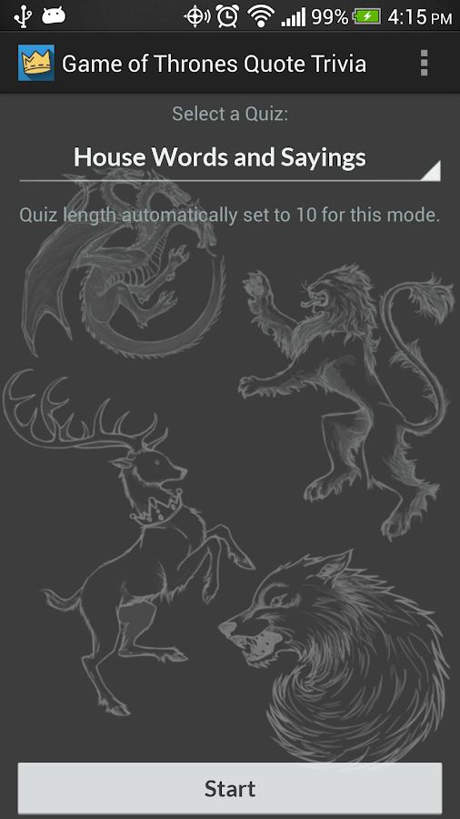 Game of Thrones Quote Trivia!- screenshot
