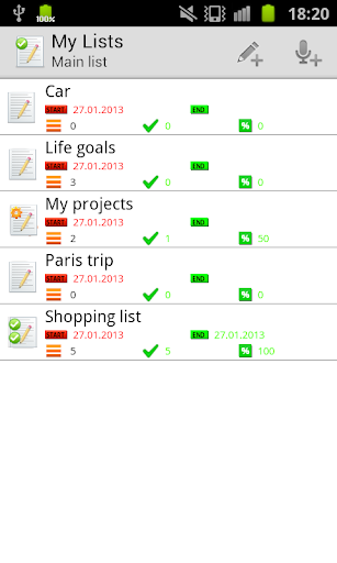 私のリスト