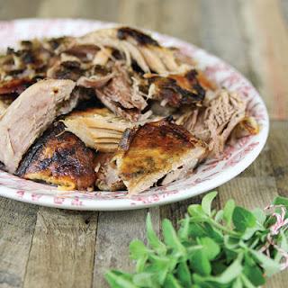 Garlic-Roasted Pork Shoulder.
