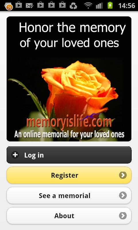 MemoryIsLife Mobile - screenshot