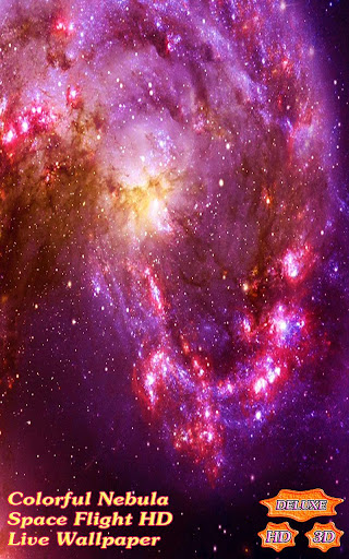 Colorful Nebula Space Flight