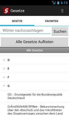 Deutsche Gesetze - screenshot