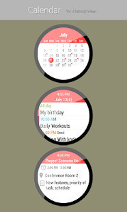Calendar for Android Wear- screenshot thumbnail
