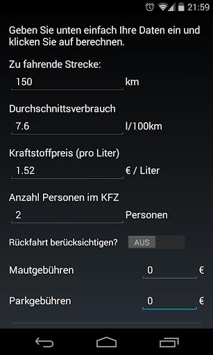 Fahrtkosten-Rechner