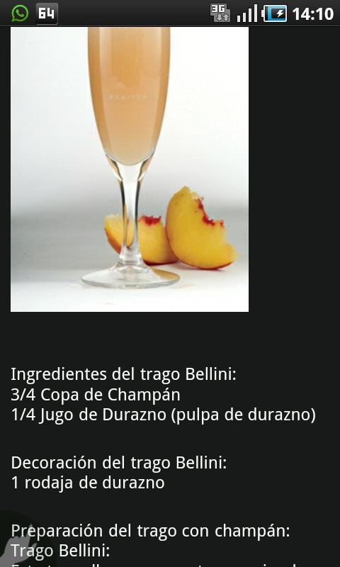 Tragos y Bebidas - screenshot