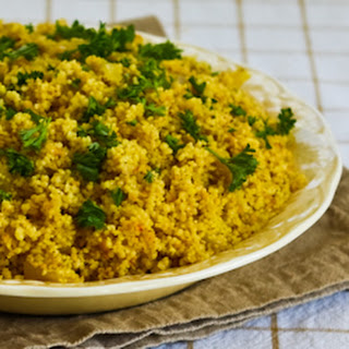 Whole Wheat Couscous with Saffron and Onions.