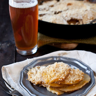 Beer Cheese Skillet Potatoes