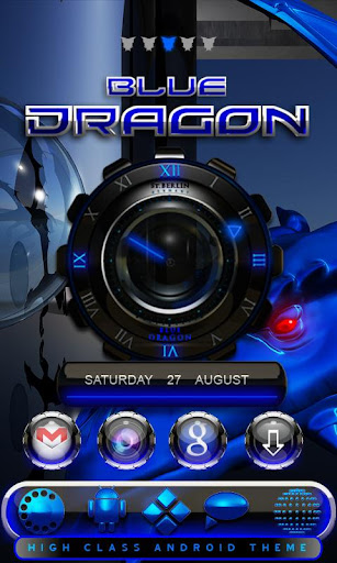 Hd blue mega dragon theme go v1 paid apk download apk for Home design 3d paid version apk